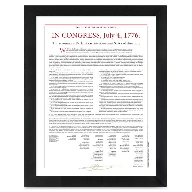 Declaration Of Independence Text Readable