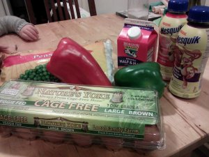 The items I bought on my run grocery store.