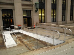 Wheelchair ramp, James A. Farley Post Office, Manhattan