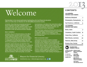 2013: welcome/contents