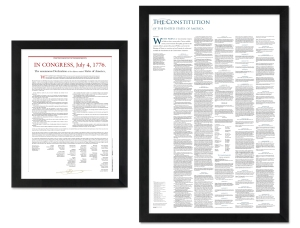 2 pack: The Declaration of Independence + the Constitution