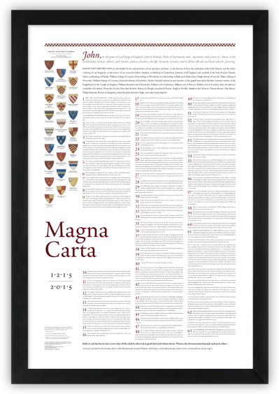 Magna Carta: An 800th anniversary print