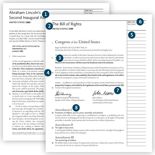 Great Documents Curriculum Series: features