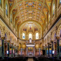 """The nave. St. Joseph's was extensively restored between 2012 and 2014, its 100th anniversary. It became the """"co-cathedral"""" for Brooklyn and Queens in 2013."""