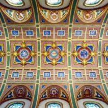 The ceiling over the nave.