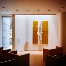 """Louise Nevelson's Chapel of the Good Shepherd. Its official website describes it as a """"comprehensive sculptural environment"""" and notes that it is """"the only permanent installation of a Nevelson comprehensive environment in New York City."""""""