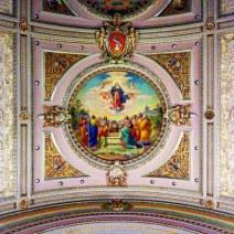 Mural over the transept crossing.