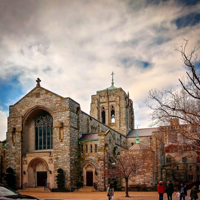 Our Lady Queen of Martyrs Roman Catholic Church in Forest Hills, Queens, was completed in 1939 and modeled on Durham Cathedral in England.