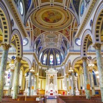 The nave. St. Matthias Church was completed in 1926 and added to the National Register of Historic Places in 2012.