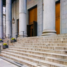 The front steps facing Barclay Street.