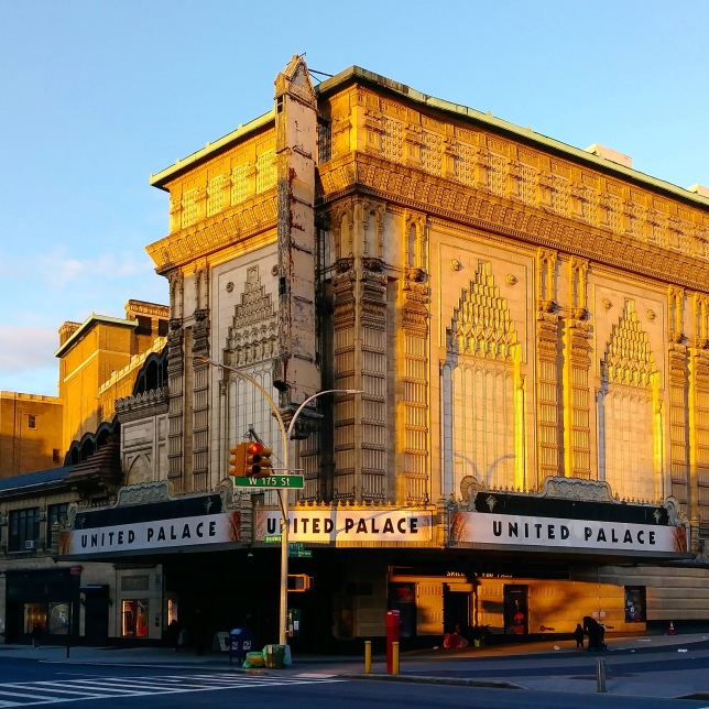 United Palace House of Inspiration, Washington Heights, Manhattan. The building opened in 1930 as the Loew's 175th Street Theatre. When the movie palace closed in 1969, it was purchased by a televangelist to house his church. That church, now called the United Palace House of Inspiration, continues to use the building, though it now also serves as a community center and performing arts space. A number of movies and television shows have filmed scenes here.