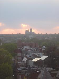 Sunset over Washington National Cathedral