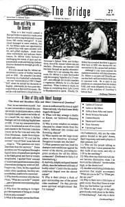 The Bridge, 27 June 1999, page 1