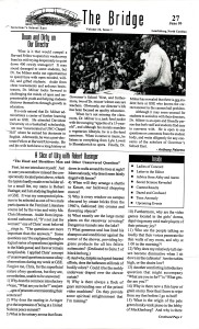 The Bridge, 27 June 1999, page 1